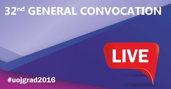 32nd General Convocation – 2017 Live